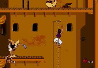 Disney's Aladdin Genesis - Rope Climb