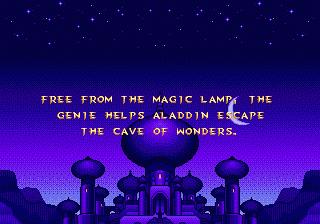 Disney's Aladdin Genesis - Story