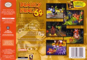 Donkey Kong 64 Box Back