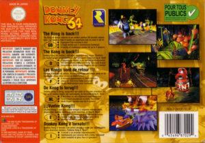 Donkey Kong 64 European Box Back