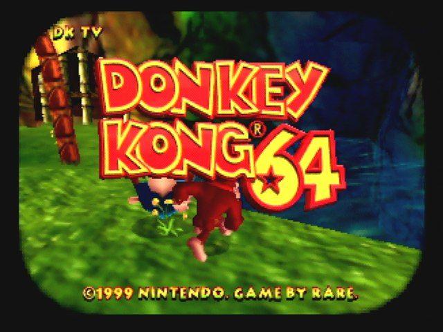 Donkey Kong 64 - Title Screen