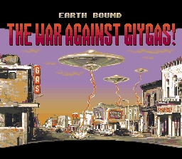 EarthBound Inital Loading Screen