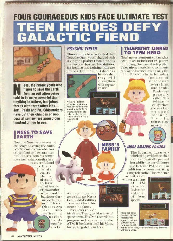 EarthBound Nintendo Power