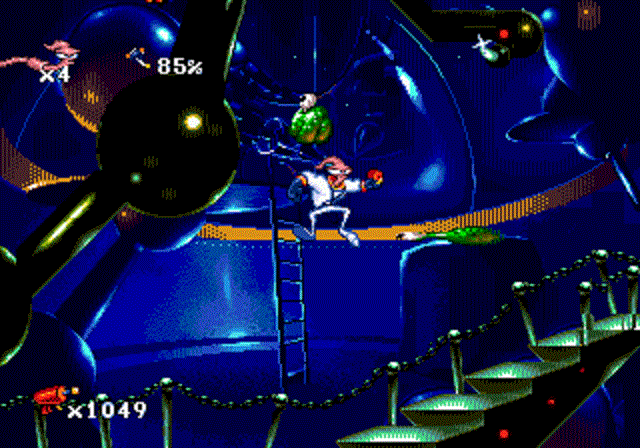 Earthworm Jim - Futuristic Stage