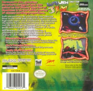 Earthworm Jim GBA Box Back