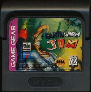 Earthworm Jim Game Gear Cartridge