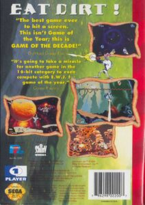 Earthworm Jim Genesis Box Back