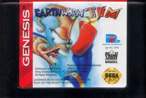 Earthworm Jim Genesis Cartridge
