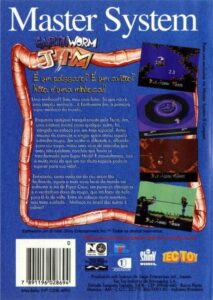 Earthworm Jim Master System Box Back