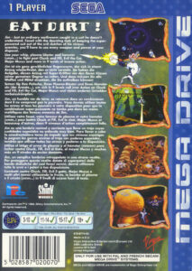 Earthworm Jim Mega Drive Box Back