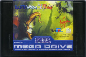 Earthworm Jim Mega Drive Cartridge