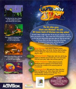Earthworm Jim PC Box Back