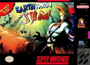 Earthworm Jim SNES Box