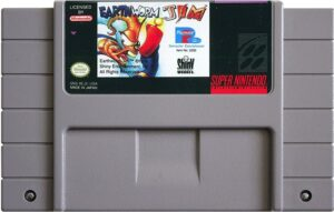 Earthworm Jim SNES Cartridge