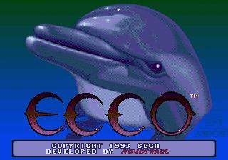 Ecco The Dolphin Title Screen