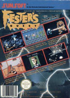 Fester's Quest European NES Box Back