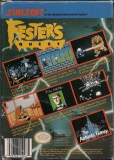 Fester's Quest NES Box Back