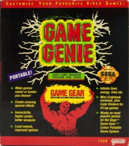 Game Gear Game Genie Box