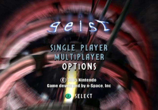 Geist - Title Screen