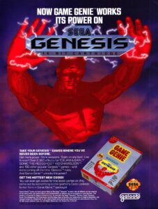 Genesis Game Genie Advertisement