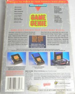 Genesis Game Genie Box Back