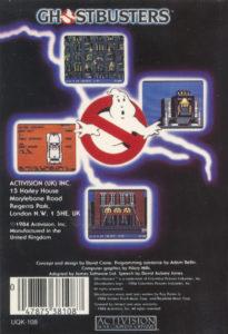Ghostbusters Amstrad CPC Box Back