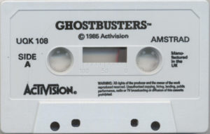Ghostbusters Amstrad CPC Cassette Tape