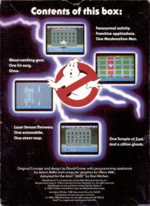 Ghostbusters Atari 2600 Box Back