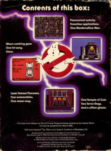 Ghostbusters Commodore 64 Box Back