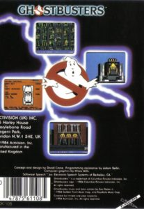 Ghostbusters MSX Box Back