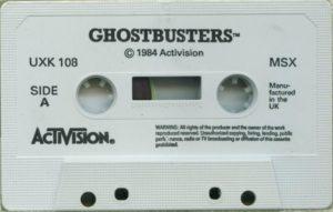 Ghostbusters MSX Cassette Tape