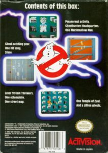 Ghostbusters NES Box Back