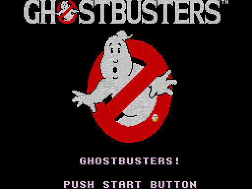 Ghostbusters Title Screen
