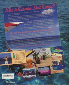 Leisure Suit Larry Goes Looking for Love Amiga Box Back