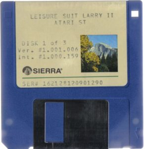 Leisure Suit Larry Goes Looking for Love Atari ST 3.5 Floppy 1 of 3