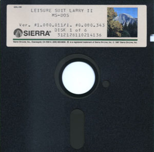 Leisure Suit Larry Goes Looking for Love DOS 5.25 Floppy 1 of 6