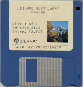 Leisure Suit Larry in the Land of the Lounge Lizards 3.5 Floppy Disc