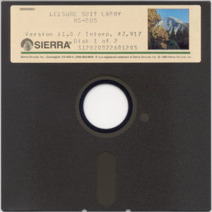 Leisure Suit Larry in the Land of the Lounge Lizards 5.25 Floppy Disc 1