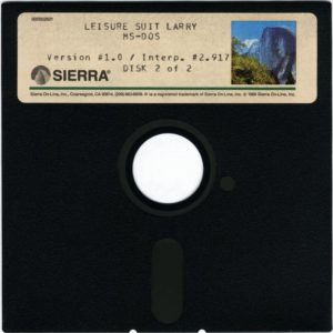 Leisure Suit Larry in the Land of the Lounge Lizards 5.25 Floppy Disc 2