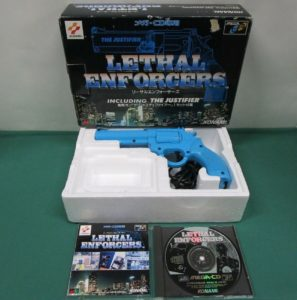 Lethal Enforcers Mega CD Complete Displayed