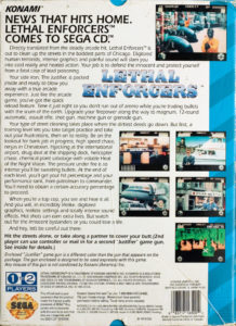Lethal Enforcers Sega CD Box Back