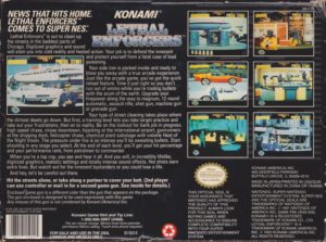 Lethal Enforcers Super Nintendo Box Back
