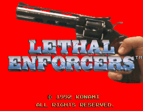 Lethal Enforcers Title Screen