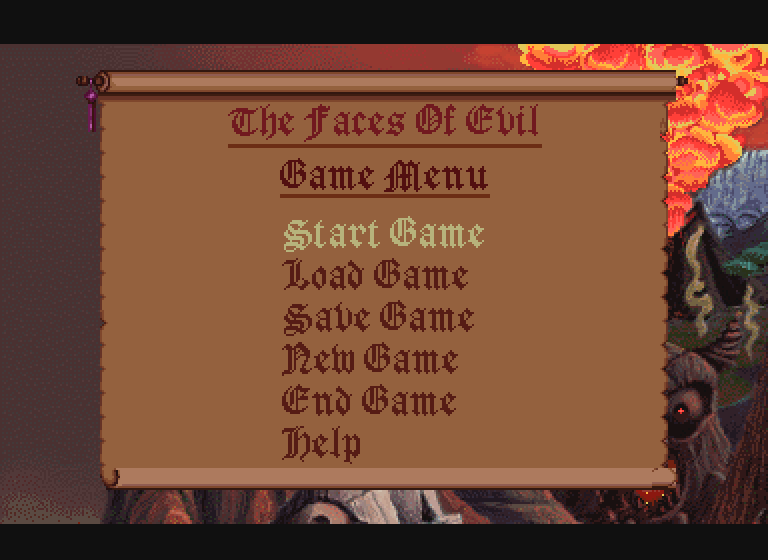 Link The Faces of Evil Main Menu