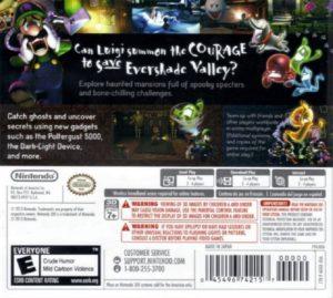 Luigi's Mansion 3DS Box Back