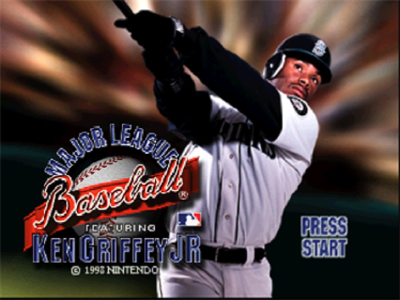 MLB Ken Griffey Jr Title Screen