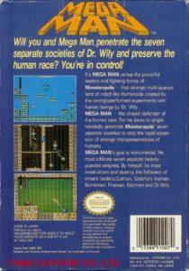 Mega Man NES EU Box Back