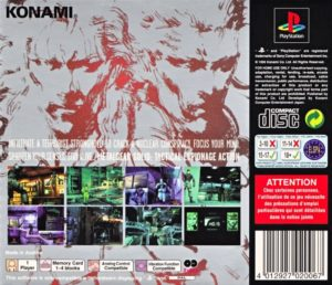 Metal Gear Solid EU Box Back
