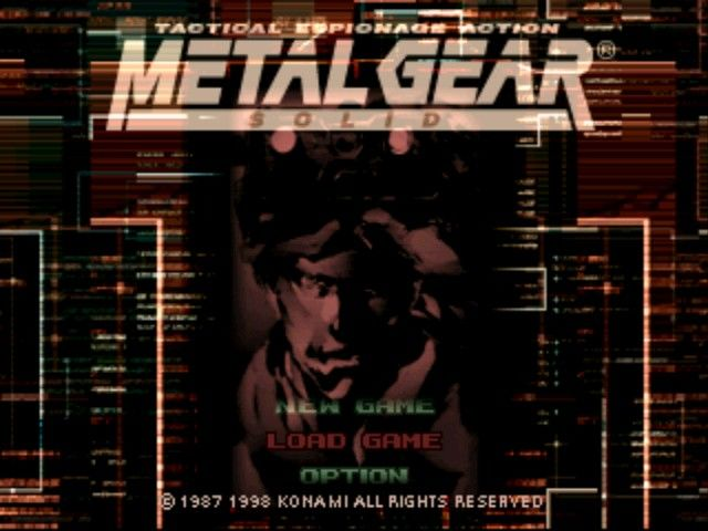 Metal Gear Solid Title Screen