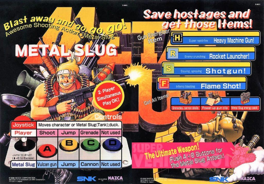 Metal Slug Arcade Flyer 2